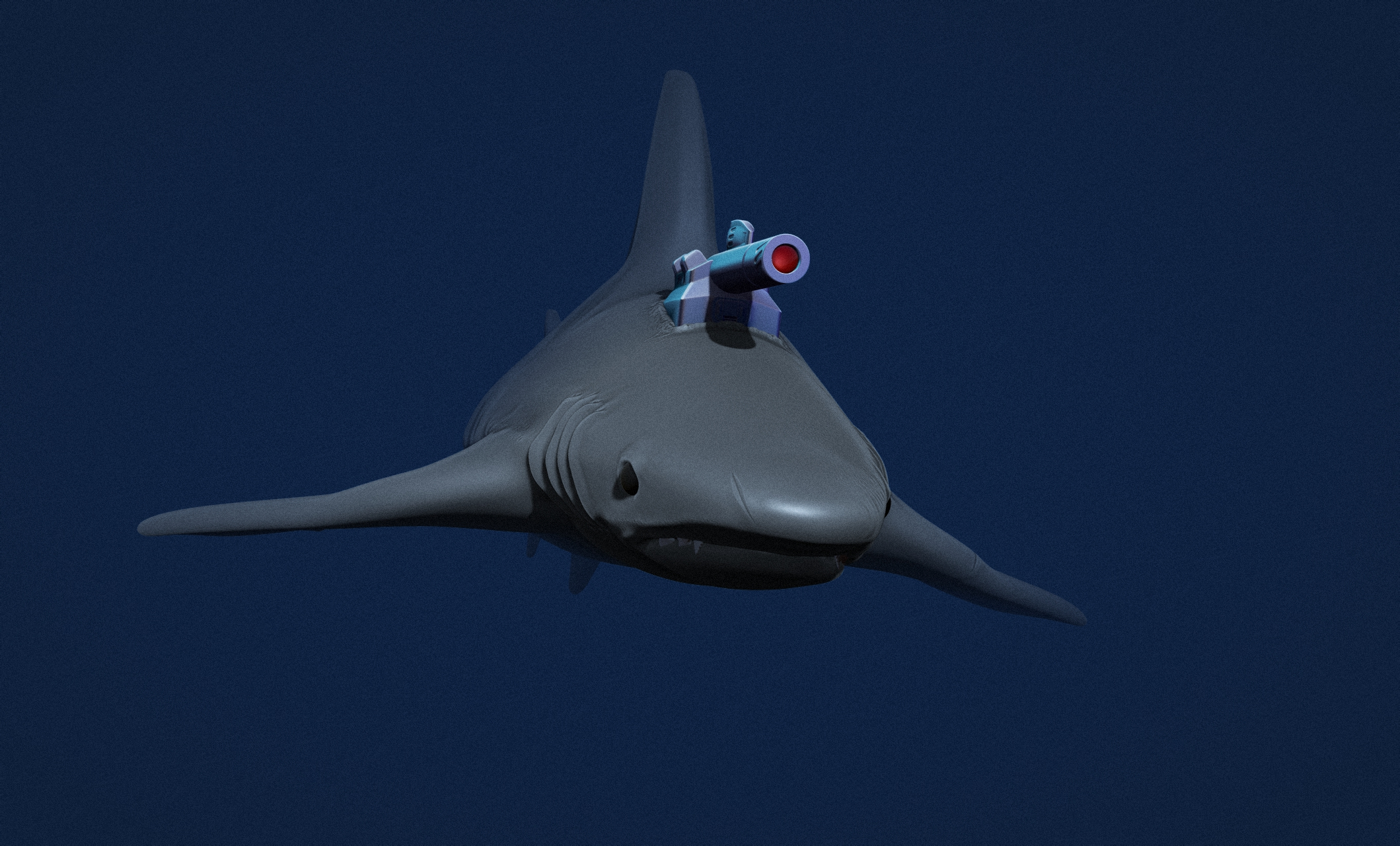 Shark with Laser