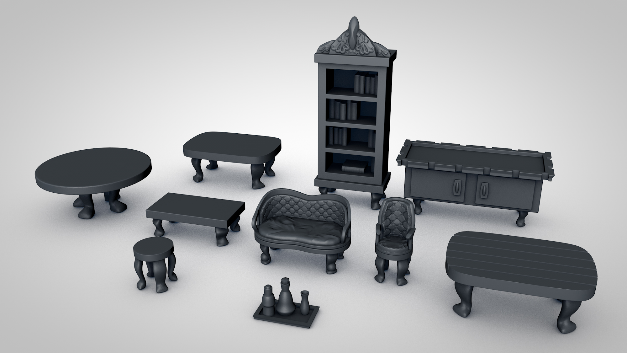 Fancy Furniture for D&D or Tabletop Gaming